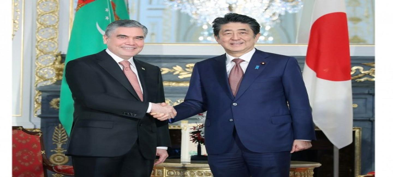 GURBANGULY BERDIMUHAMEDOV AND SHINZO ABE DISCUSSED PROSPECTS FOR TURKMEN-JAPANESE INTERACTION